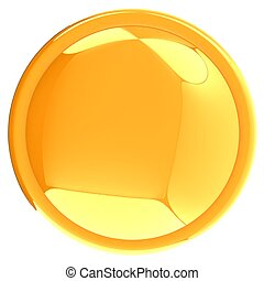 Glossy yellow button