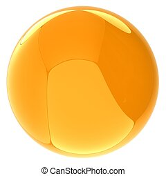 Glossy yellow sphere