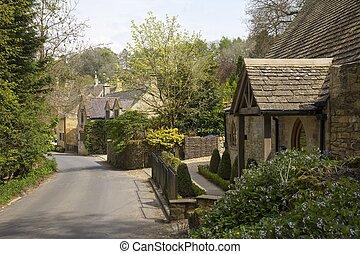 gloucestershire, cotswold, inglaterra, snowshill, cabañas