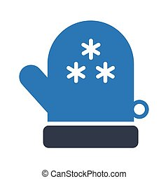 glove glyph color vector icon
