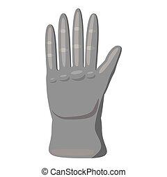 Glove icon, gray monochrome style