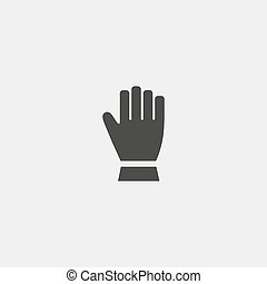 Glove icon in a flat design in black color. Vector illustration eps10