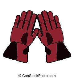 Glove of winter cloth design