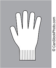 Vector illustration of winter knitted glove