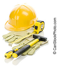 gloves and tools for repairing
