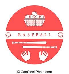 Gloves, balls, baseball bats. Baseball equipment. Sports...