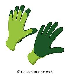 Gloves cartoon icon