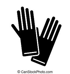 gloves icon, vector illustration, black sign on isolated background