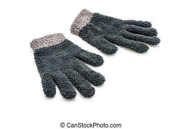 Gloves on white background