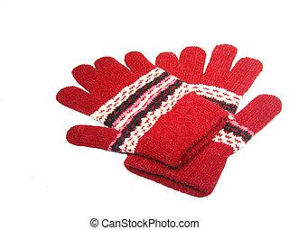 Gloves - Pair of red gloves