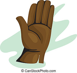 Gloves	 - Illustration of a  gloves made of leather