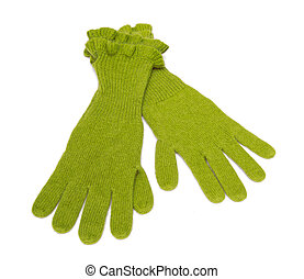 Gloves isolated on the white background