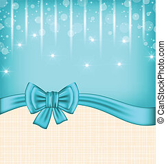 Glow celebration card with gift bow