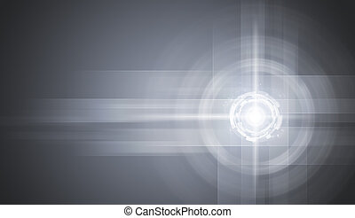 Glow circles on gray gradient background