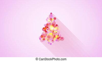 glow colorful christmas tree shape loopable animation