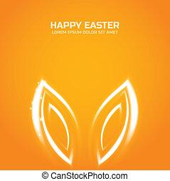 Glow Easter bunny ears