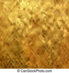 Glow gold mosaic background. EPS 8 vector file included