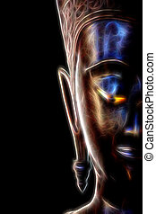 Glow image of Buddha portrait
