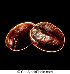 Glow image of Coffee beans