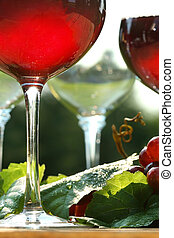 Glow of red wine