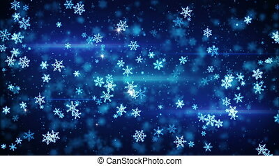 glow snowflakes falling seamless loop animation