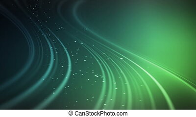 Glow Streams Blue Green - Abstract fractal lines with glow...