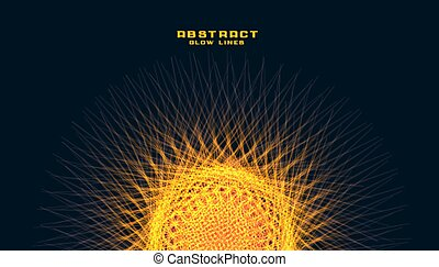 glowin lines circle mesh like a sun abstract background