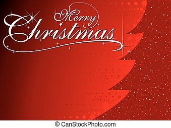 glowing, árvore, abstratos, natal