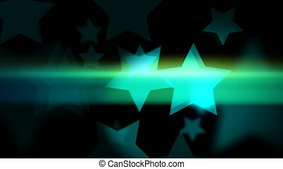 """""""Glowing and glittering 2d animation of bokeh of star-shaped on the dark background. Loopable video for holiday or business theme."""""""