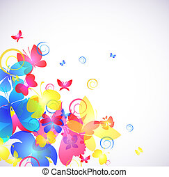 Glowing abstract background with butterfly