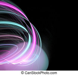 glowing abstract plasma
