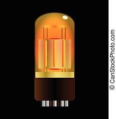 Glowing Amplifier Valve