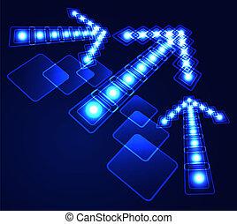 Glowing arrow