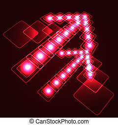 Glowing arrow