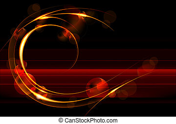 Glowing background, eps10