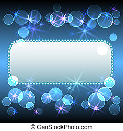 Glowing background with celebratory frame
