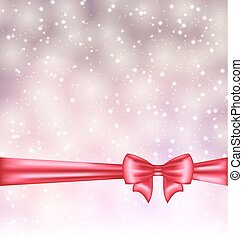 Glowing background with gift bow ribbon