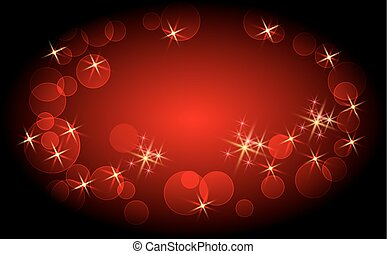 Glowing background with sparkle stars and boke - Glowing...