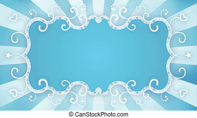glowing blue banner loopable animation