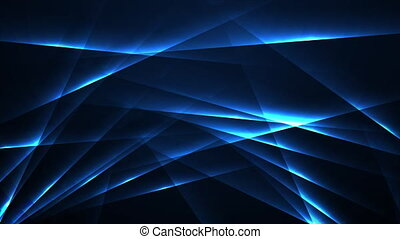 Glowing blue laser lines abstract hi-tech neon motion background. Seamless looping. Video animation Ultra HD 4K 3840x2160