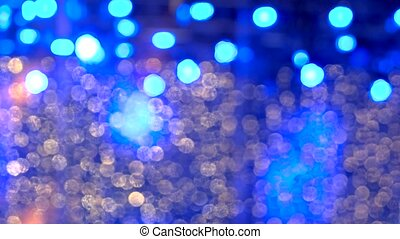 Glowing blue lights. Cold background.