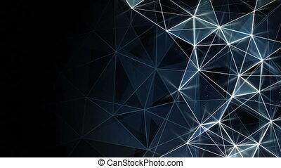 glowing blue network background seamless loop