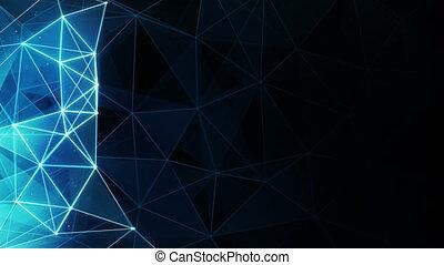 glowing blue polygon background seamless loop