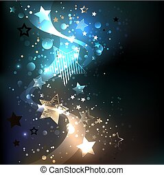 Glowing blue stars