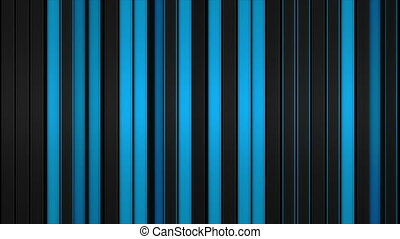 Glowing blue vertical lines. Abstract 3D render