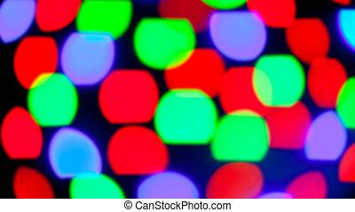 glowing bokeh colorful lights in black