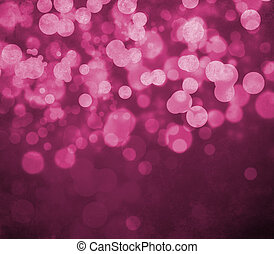 Glowing bokeh effects on a textured paper background