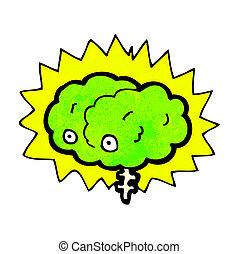 glowing brain cartoon