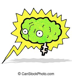 glowing brain cartoon