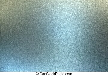 Glowing brushed blue metal wall surface, abstract texture background